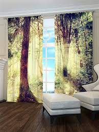 Panel Curtain with Digital Print <b>Forest 2X</b> 145x260 cm: Amazon.de ...