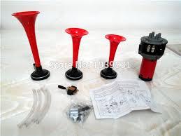 <b>Trumpet</b> Musical Electronic 3x Red <b>Air</b> Horn Compose <b>Car</b> Truck ...