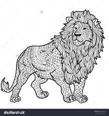 Small Picture Wild lion Adult Coloring Page Print Wild lion and Adult coloring