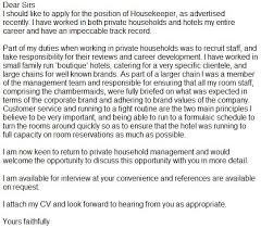 application letter housekeeping position abstract help skills    inc   for   sample resume draft for housekeeping from  a brief paragraph that why you how can always start