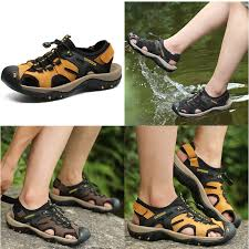 Large Size 38~48 <b>Men's</b> Summer Outdoor Casual <b>Sandals Cow</b> ...