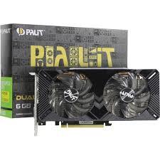 <b>Видеокарта PALIT GeForce</b>® <b>GTX</b> 1660 DUAL 6 Гб GDDR5 ...