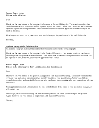 job interview rejection letter examples cipanewsletter job rejection letter candidate rejection letter sample
