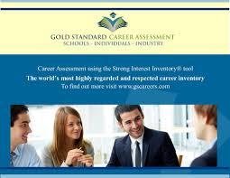 newsletter flyer gold standard career assessment