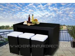 modern design black outdoor furniture black bristra wicker outdoor furniture with stools wfd br01 black black outdoor furniture