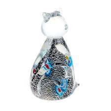 <b>Фигурка Art glass</b> серебряный котенок 7x11.5 см (1002200551 ...