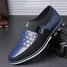 <b>Men</b> Stitching Slip On <b>Casual Shoes</b>