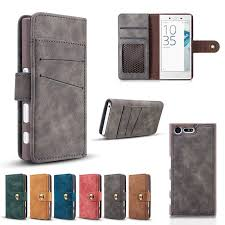 Blue Sony Xperia X Compact/X Mini <b>Wallet Case Card Slots</b> and ...