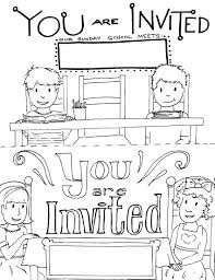 printable sunday school invitations templates directions select the preview to the right to this image as a printable pdf file