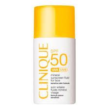 Clinique Sun <b>Солнцезащитный минеральный флюид</b> для лица с ...