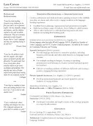 examples of resumes resume example part time spanish instructor resume example part time spanish instructor resume english inside 85 amusing a resume example