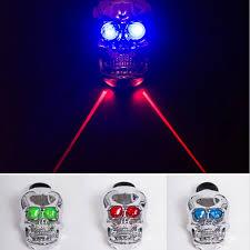Q121 Sale <b>MTB Skull</b> taillight bike LED light laser safety warning ...