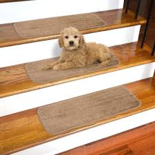 beige Home Décor Runners LianLe <b>15PCS Stair Treads</b> Mats Non ...