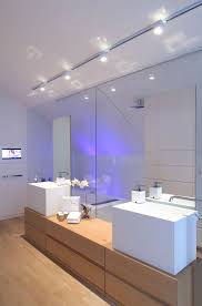 lighting bathroom vanity awesome purple and white bathroom with glass door and accent ceiling lights awesome bathroom lighting bathroom