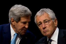 u s department of defense photo essay defense secretary chuck hagel right and secretary of state john f kerry confer
