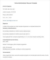 administration resume template –    free samples  examples    school administrator resume template