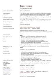 finance director cv sample  taking a lead role in all operational    finance director cv sample
