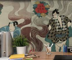 liberty bedroom wall mural: vintage japanese theatre play wall mural