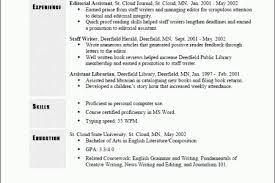 Types Of Chronological Resume Templates   Reentrycorps Reentrycorps Reverse Chronological Resume Sample