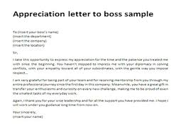 appreciation letter to boss sample thank you letter to boss appreciation letter for your boss