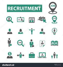 recruitment job cv career hr icons stock vector  recruitment job cv career hr icons