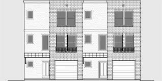 Mixed Use Building Plans for Office Retail and Residential SpaceD  Modern town house plans  duplex house plans  sloping lot house plans