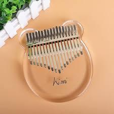 17 key Kimi <b>Kalimba Acrylic Thumb Piano</b> - Meraki <b>Kalimba</b>