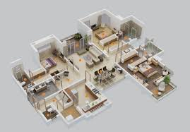 """Three """" """" Bedroom Apartment House Plans   Architecture  amp  Design  large   bedroom floor plans"""