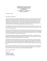 jackson county middle school letter to parents