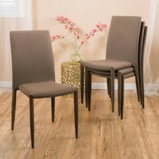 modern wood dining room sets: comstock fabric stackable dining chair set of  by christopher knight home