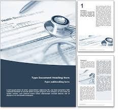 royalty  health insurance microsoft word template in blue health insurance word template document