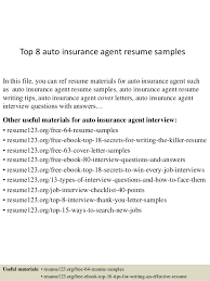 health insurance agent resume sample   Job and Resume Template Documents
