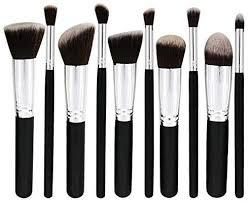<b>10Pcs Makeup</b> Brush Set Beauty Tools <b>Professional</b> Wooden ...