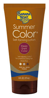 Banana Boat <b>Summer Color</b> Self-Tanning Lotion, Deep/Dark, 6 oz ...