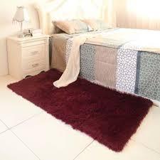 shaggy rugs bedroom area
