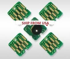 5 PCS one time cartridge chip for <b>epson</b> t3000 t5000 t7000 t3270 ...