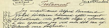 「Alfred Bernhard Nobel signed the will for nobel awards」の画像検索結果