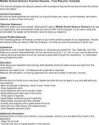 middle school teacher resume sales teacher lewesmr sample resume middle school science middle school teacher resume examples