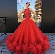 2019 <b>New Red Ball Gown</b> Prom Dresses Abendkleider Elegant ...