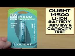 Olight 750mAh <b>14500 3.7v</b> Rechargeable <b>Li-ion Batteries</b>: Test ...