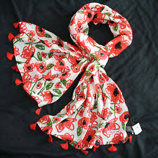 Red <b>Poppy Flower</b> Floral Scarves & Wraps for Women for sale | eBay