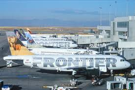 frontier airlines to outsource 1 300 ground jobs airports frontier airbus line up