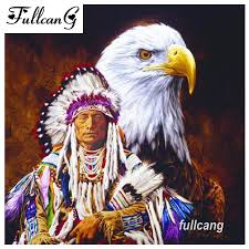 2019 <b>FULLCANG Diy</b> 5d Diamond Painting Native American Indians ...