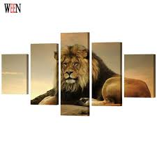 WEEN Framed <b>HD Print Large</b> Lion Wall Pictures Art Directly ...