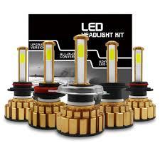 Enhanced 4-side Car LED Headlight <b>60000lm</b> H4 H8 H9 H11 9005 ...
