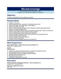 cashier resume templates     samples in wordstore cashier resume