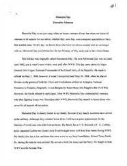 memorial day essay by kathlena peebles memorial day essays speeches poems prayers and song lyrics
