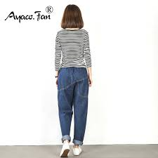 Plus Size Jeans Female <b>2019 Loose</b> Ankle Length Pants For ...