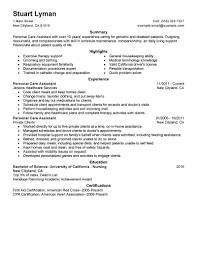 wellness resume examples wellness sample resumes livecareer personal care assistant resume example