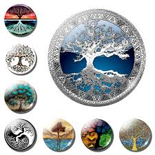 Tree of Life Fridge <b>Magnet 1PCS</b> Glass Cabochon Life Tree Art ...